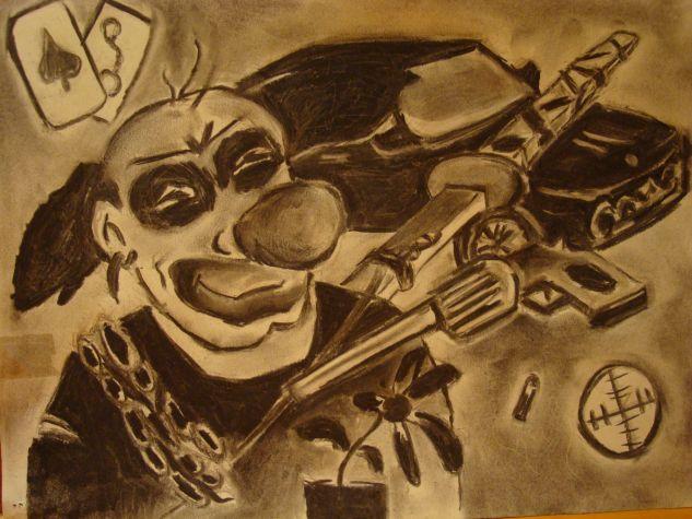 Payasete Grafito Papel Paisaje