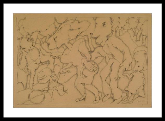 Carboncillo y lápiz 3 de Eduardo Cohen  Retrato Lápiz (Negro) Papel