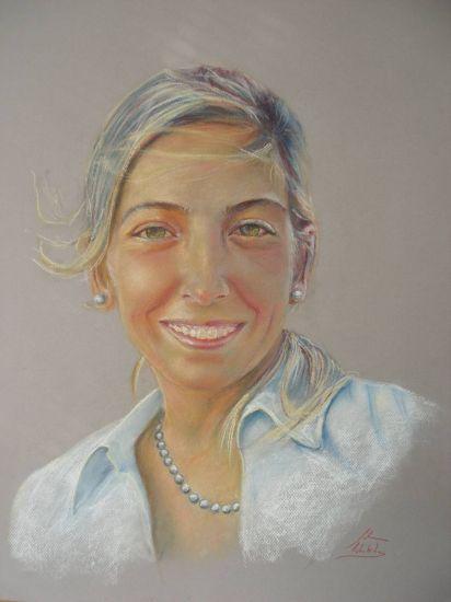 María Pastel Papel Retrato