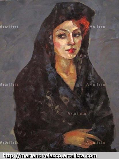 dama con mantilla