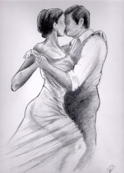 Bailando tango Lápiz