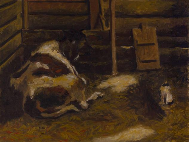Cows Animales Óleo Lienzo