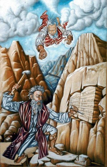 Los diez mandamientos Papel Figura Pastel