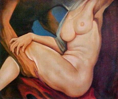 Apegos Oil Nude Paintings Canvas