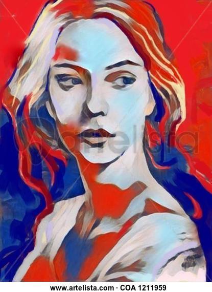Serene Lady Retrato Acrílico Lienzo