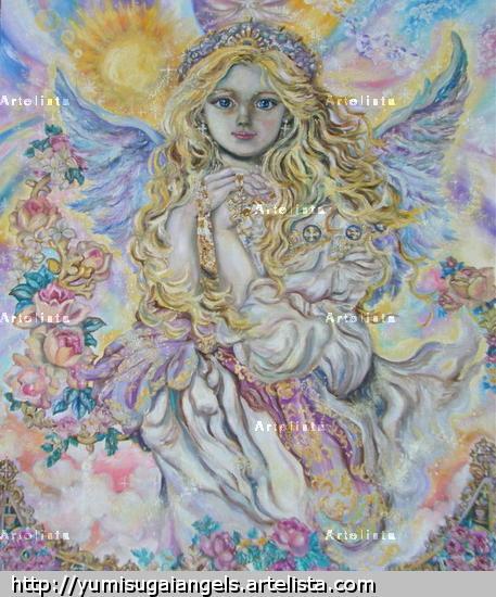 Yumi Sugai.Archangel Raphael.poster. Canvas Oil Figure Painting
