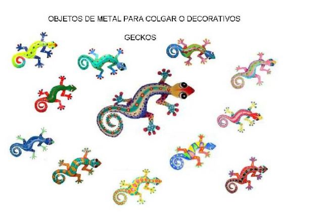 gecko Decoración Metal