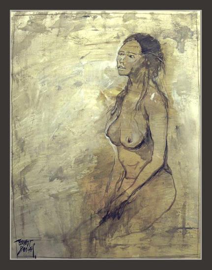 SOFONISBA-MASINISA-CARTAGO-ANIBAL-MUJER-PINTURA-ARTE-PINTOR-ERNEST DESCALS Paper Oil Figure Painting