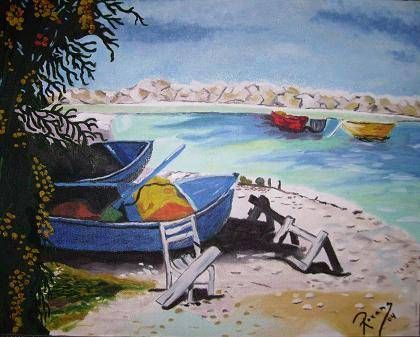 Playa - Réplica Óleo Tabla