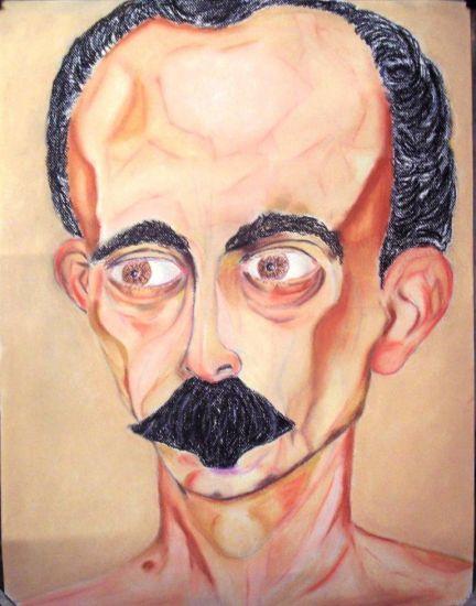 Jose Marti al desnudo Pastel Paper Portrait