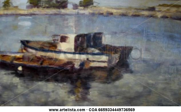 del mar Marina Óleo Tabla