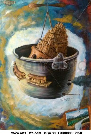 Babel Figura Óleo Lienzo