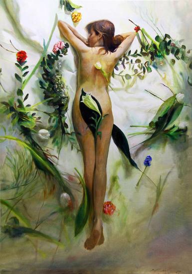 Spring motive Lienzo Óleo Figura