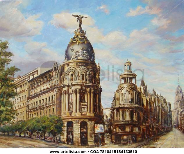 GRAN VIA - MADRID Canvas Oil Others
