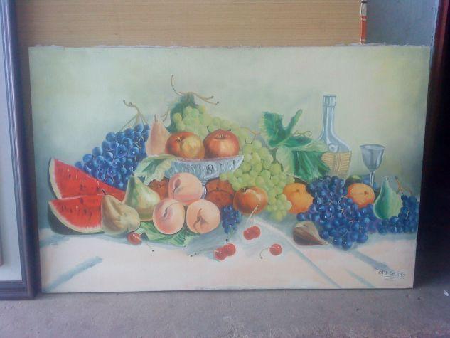 bodegon de frutas Óleo Lienzo Bodegones