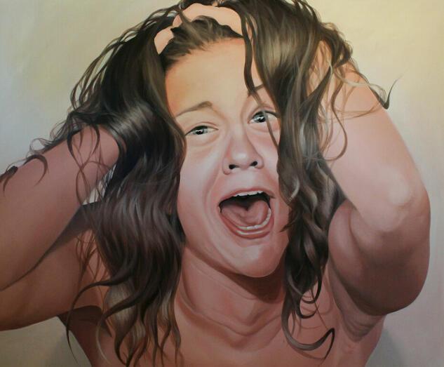 LAS VIRTUDES VICIADAS 1 Portrait Acrylic Canvas