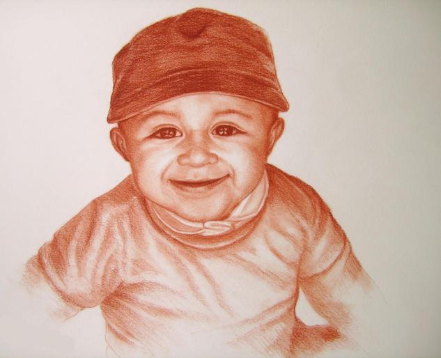 retrato de niño Sanguina