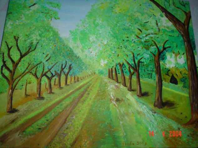 Camino rural Canvas Oil Landscaping