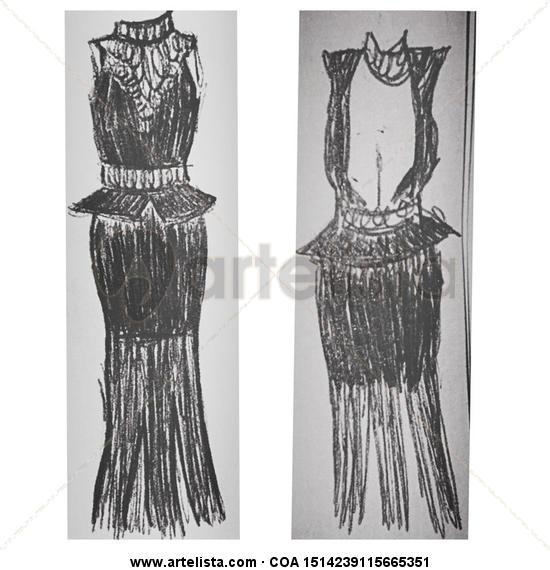 Une Otre Robe Blanco y Negro (Digital) Publicidad y moda