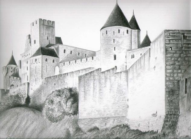 Castillo de Carcassonne, Francia Lápiz