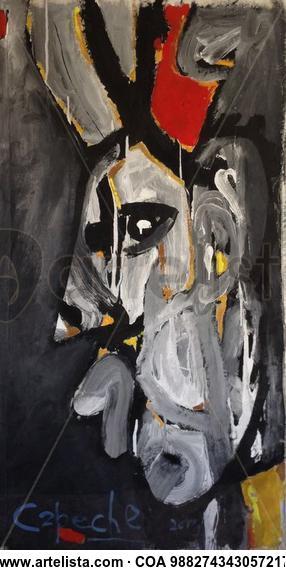 El Hechicero. Retrato Acrílico Lienzo