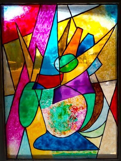 LE VASE DE PIC   Floral De vidriera Cristal