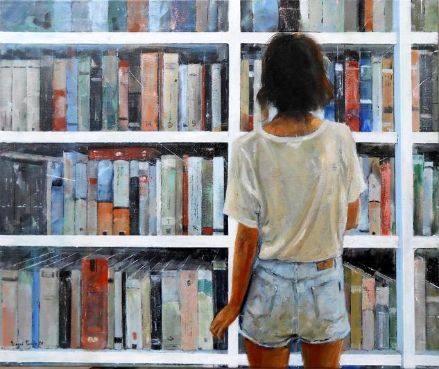 Libreria 2020 Figura Óleo Lienzo