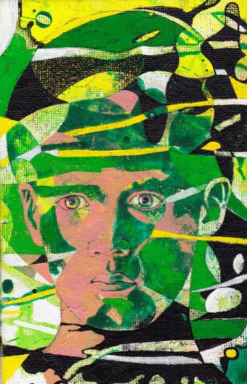 retrato Textile Oil Portrait