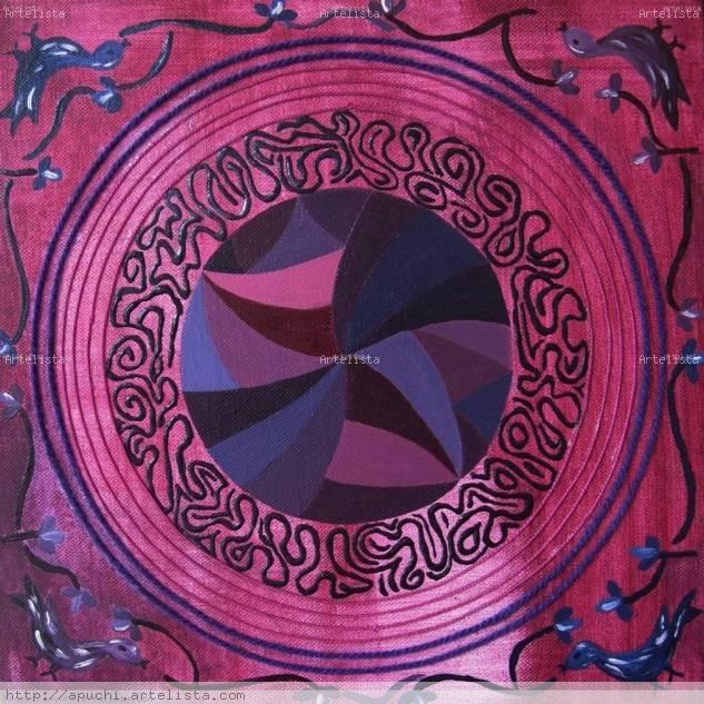 Mandala Violeta - Yin Tela Media Mixta Otros