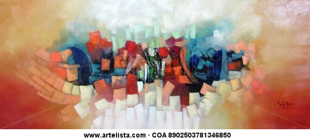 Abstracto , sin titulo Lienzo Óleo Otros