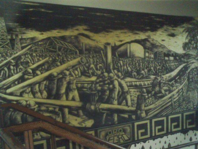 Mural Oro Negro Otros Industrial Otros