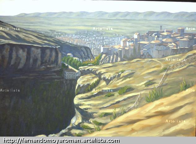 Panorámica de Cuenca Lienzo Óleo Paisaje