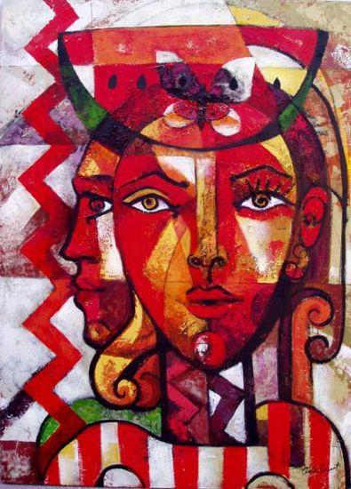 Mujer Homenaje a Picasso Lienzo Acrílico Figura