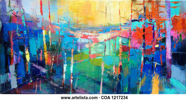 Colorful forrest 814 Others Acrylic Canvas
