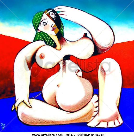 In Memoriam : Pablo Picasso Lienzo Acrílico Desnudos