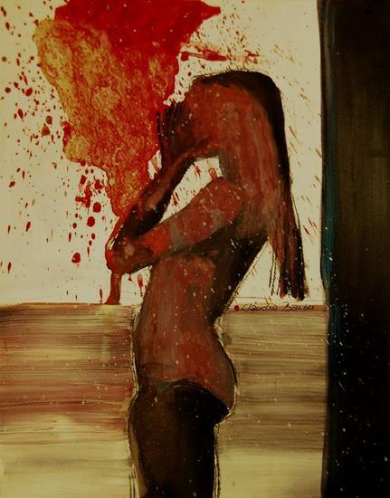 red Papel Acrílico Desnudos