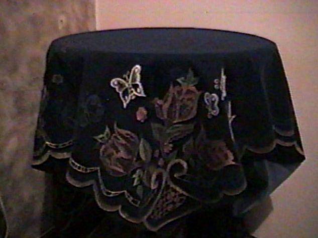 Pirograbado sobre Gamuza Pintura Textil