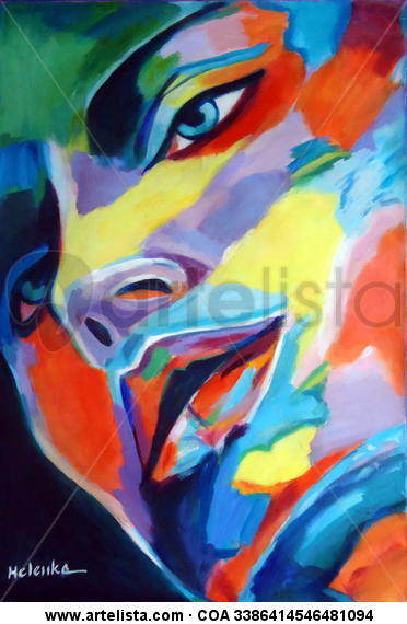 Spellbound heart Retrato Lienzo Acrílico