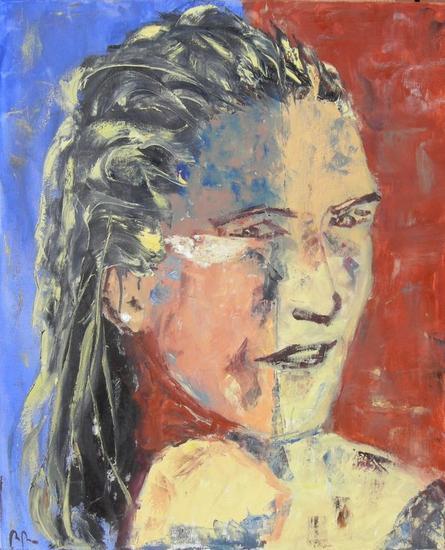 Silvia Portrait Oil Textile