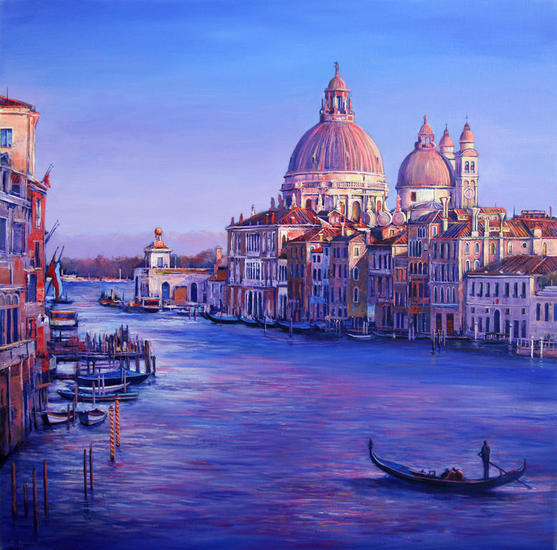 Sunset in Venice Canvas Acrylic Landscaping