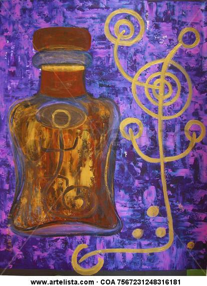 Botella Otros Acrílico Figura