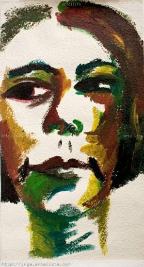 auto-retrato7 Retrato Acrílico Papel