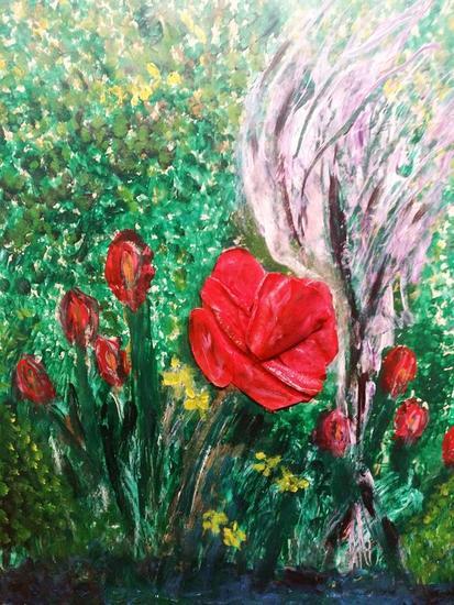 Rosarosae Floral Lienzo