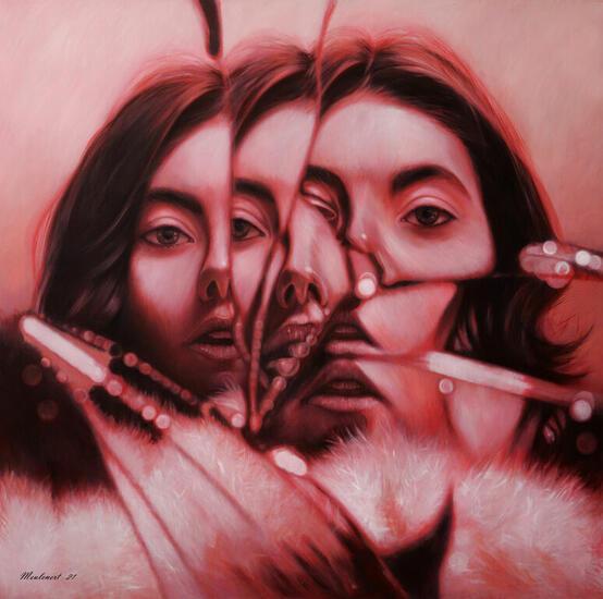 Multiplicity Portrait Oil Canvas