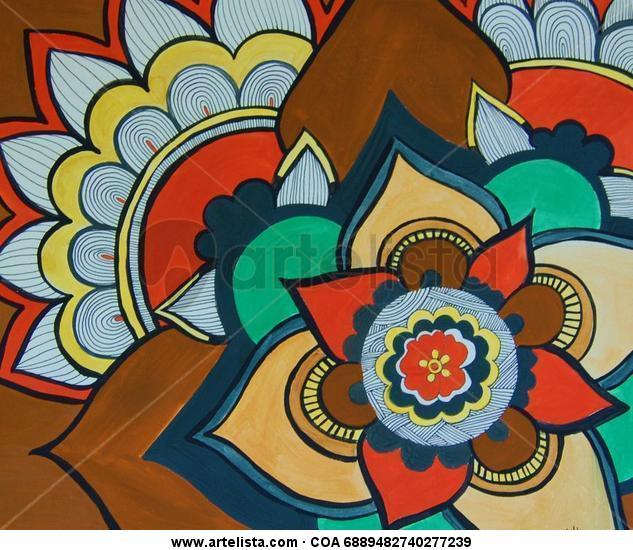 Mandala Papel Acrílico Floral