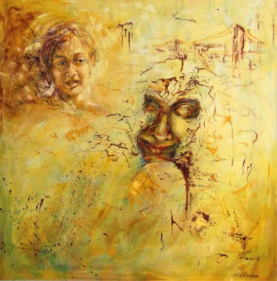 Imaginandome - Gisela Zarate Canvas Oil Portrait