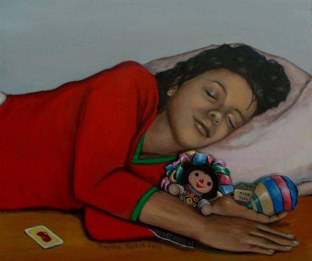 DOS MUÑECAS Two Dolls Acrílico Lienzo Retrato