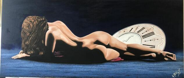 Mujer Desnuda Óleo Figura Lienzo