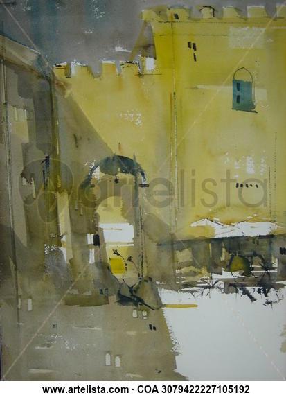 Puerta de Sevilla - Carmona Landscaping Watercolour Paper
