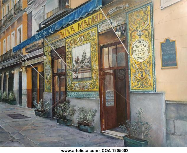 Viva Madrid- bar Landscaping Oil Canvas